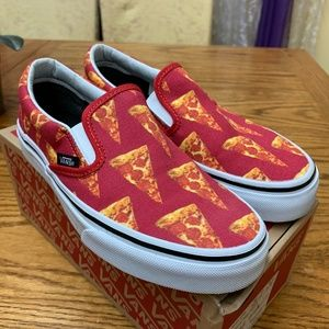 Vans Classic Slip On - Mars Red/Pizza - size 5.5W